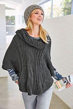 Tamaris Strickponcho, Oversized »mit Rollkragen und Känguru-Taschen« im OTTO Online Shop