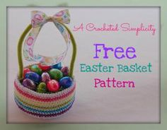 10 Free #Crochet #Easter Basket Patterns