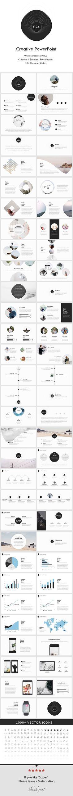 Creative PowerPoint Presentation Template — Powerpoint PPT #chart #modern