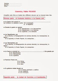 Guernica, Pablo Picasso, Art History Memes, Spanish Speaking Countries, French Teacher, How To Speak Spanish, Bilbao, Ainsi, Teaching Ideas
