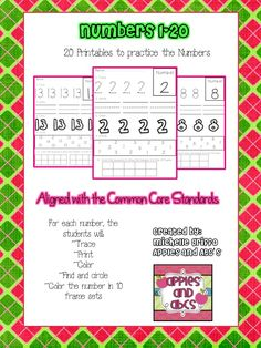 We are going to start practicing numbers 1-10 soon, so I wanted to make a set of printables to practice writing and recognizing the numbers...
