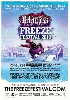 Freeze Festival 2012 by Arch Sullivan, via Behance