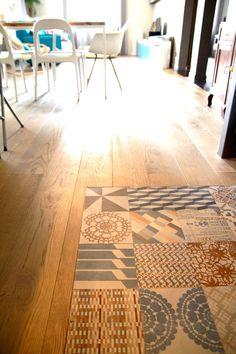 Sol en carrelage et parquet - Kitchen openspace with mutina azulejo | #sol…