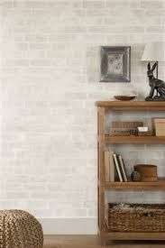 Image result for white brick wallpaper living room