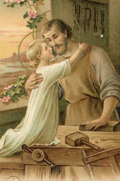 St. Joseph and the Child Jesus- I find this photo very sweet :)
