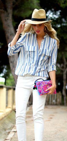 Striped Longline Button Down Shirt