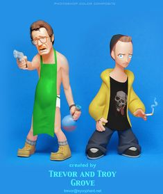 BREAKING BAD Toon-Up Figures: Walt and Jesse by TrevorGrove on deviantART