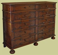 Large bespoke 10 drawer period style chest of drawers, with geometric mouldings. Oak Bedroom Furniture, Bedside Cabinet, Chest Of Drawers, Cupboard, Bespoke, Period, Home Decor, Style, Clothes Stand