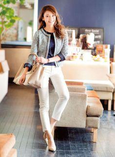 キャンバス×レザーのバッグでコーデを洗練! | ファッション コーディネート | with online on ウーマンエキサイト