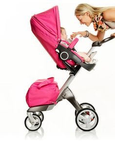 ari's pink stroller! She loves the #stokke! A dear friend blessed us with it... so thankful!