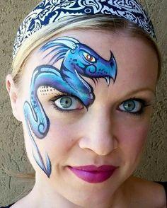 Dragon                                                                                                                                              Face painting.  Half face art