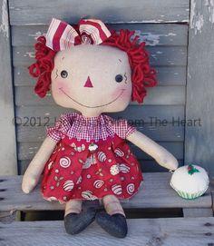 Raggedy Ann Doll with Cupcake Pattern. $5,50, via Etsy.