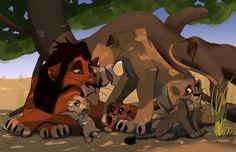 Scar & Zira with their cubs