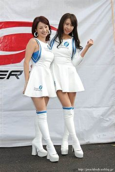 See related image detail Grid Girls, Sexy Asian Girls, Beautiful Asian Girls, Womens Thigh High Boots, Promo Girls, Vinyl Dress, Girls In Mini Skirts, Dream Cars, Sporty Girls