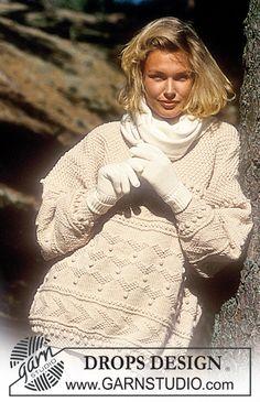 "DROPS Textured Sweater in ""Alaska"" ~ DROPS Design"