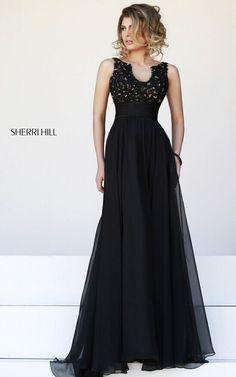 2014 Fashion Black Long Evening Dress SH 32011