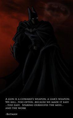 Batman: Bat Quote from the Dark Knight Returns Graphic Novel.
