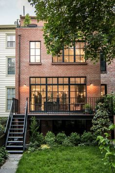 With timeless classic style this Brooklyn townhouse has been completely renovated, restored and new additions added. All the windows were replaced, with black steel windows on the garden facing new ad