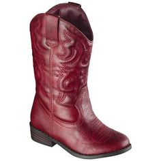 Toddler Girl's Cherokee® Gregoria Cowboy Boot - Assorted Colors - not the red but brown