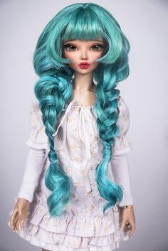 https://flic.kr/p/K1aNhD | Magical Bunny | Our new wig of teeswater sheep locks for bjd available for order on our site -  www.amadiz-studio.com/#!product-page/iky07/28a3521f-5db6-...  Free shipping.   Lovely bright wig with beautiful braids for your doll.   The wig has an elastic cap of white color with an elastic band, that you don't need a silicone cap.  ~ Our wigs are versatile, they are suitable for many dolls with a similar head size! ~