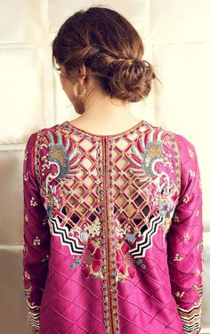 Tena durrani formal 2018 wineberry sku c Pakistani Fashion Casual, Pakistani Dresses Casual, Pakistani Bridal Dresses, Indian Fashion, Women's Fashion, Fashion Design, Dress Indian Style, Indian Dresses, Indian Outfits