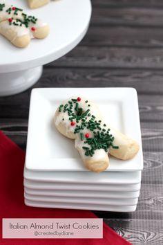 Italian Almond Twist Cookies @createdbydiane