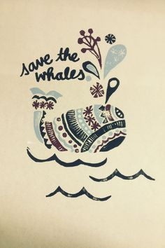 Save the Whales graphic by Madison Joy Davis