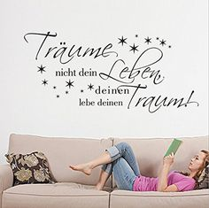Träume nicht dein deinen Removable Wall Sticker Wall Decal for Living Room Home Decor