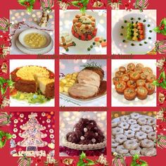 Collection of recipes for Christmas lunch- Raccolta ricette per il pranzo di Natale Collection + recipes + for + the + lunch + Christmas + - Christmas Lunch, Italian Christmas, Christmas Dishes, Christmas Time, Xmas Food, Antipasto, Menu, Muffin, Food And Drink