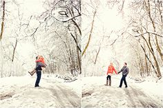 what a great winter engagement shoot!!