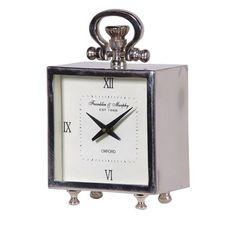 Small Modern Steel Fob Watch Mantel Clock
