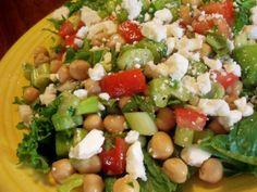 Greek Garbanzo Bean Salad in 15min