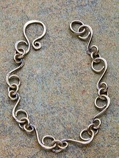 Textured S-Link Bracelet - Interweave... this may be my first project using my new wire