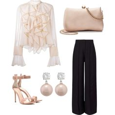 An appointment with sb by syivie on Polyvore featuring See by Chloé, Miss Selfridge, Gianvito Rossi, LC Lauren Conrad and Jankuo