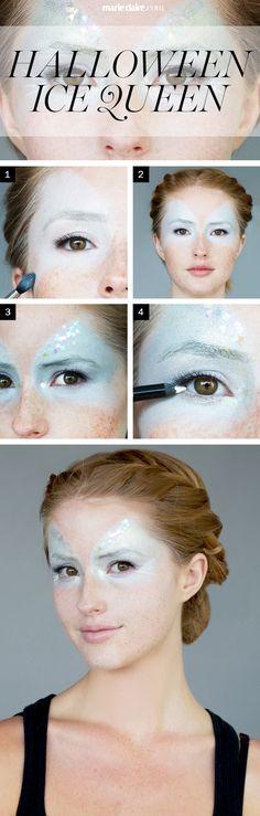 Maquillaje de Halloween Cómo hacer: La Máscara de la reina del hielo