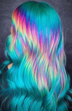 Vivid Hair Color, Cute Hair Colors, Pretty Hair Color, Beautiful Hair Color, Hair Dye Colors, Bright Hair Colors, Colourful Hair, Bright Colored Hair, Exotic Hair Color