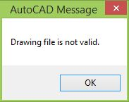 How to recover and fix problematic or corrupt DWGs in AutoCAD