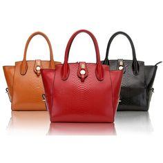 Crocodile genuine cow Leather Handbag [00530023]- US$155.00 -... via Polyvore