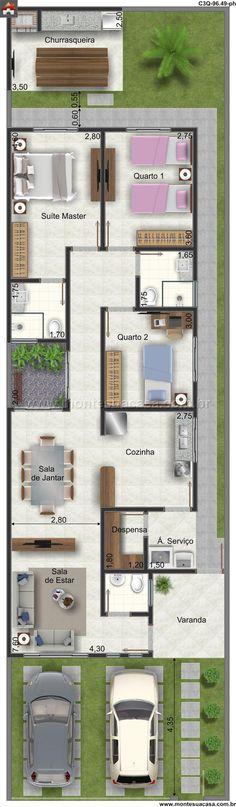 Casa 3 Quartos - 96.49m²
