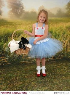Dorothy Costume Tutu Dress Baby Girls Toddler Halloween Costume Dorthy Wizard of Oz costume by American Blossoms by AmericanBlossoms on Etsy
