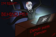 Slender Man playing Slender. This can not get any better!!