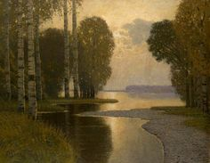 Landscape with Birch trees, 1910 - Vilhelms Purvitis