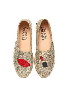 low priced af23f fccc2 Shop Chiara Ferragni shoes Spring Summer 2015 collection glitter loafers,  slip-on sneakers and espadrilles!