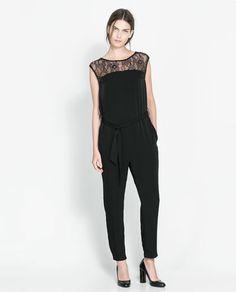 Image 1 de COMBINAISON EMPIÈCEMENT BLONDE de Zara