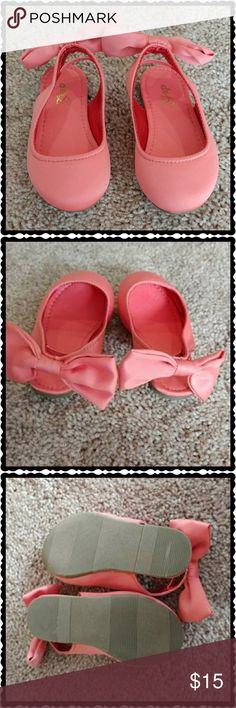 🌸 Baby Gap: Satin Flats Baby Gap Brand: Pink satin flats with satin bows on heel straps.  EUC. Like New. No wear, No stains, No marks.  Reasonable Offers Always Considered When Made! Bundle & Save! ** Next Day Shipping ** Baby Gap Shoes