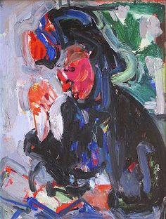 """Hans Hofmann """"Portrait"""" 1937. Oil on panel 24x18"""