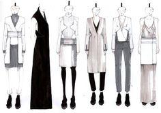 Fashion Sketchbook - fashion design collection line up drawings; fashion illustration; fashion portfolio // Mirjam Maeots