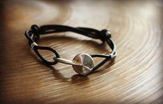 Recycled Clarinet Key Adjustable Bracelet