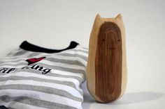 Wooden Cat Toy  baby toy  whittled  mountain ash  handmade