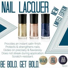 NEW! Limited-Edition† Mary Kay® Nail Lacquer from the Runway Bold Collection